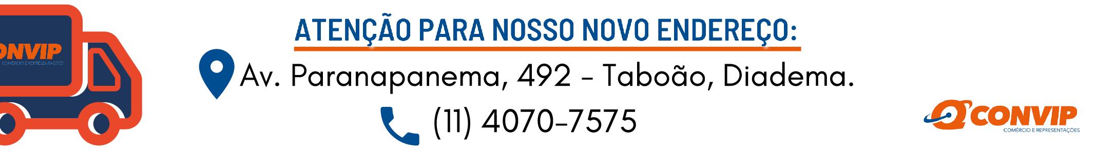 Novo endereço + telefone